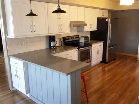 white kitchen cabinets quartz countertops white shaker cabinets and concerto quartz countertops