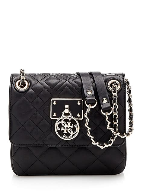 Guess Bag Gs04t 3 guess aliza quilted convertible crossbody bag in black lyst