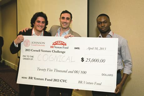 Wright Investment Fund Rice Mba by Data Driver Cognical Wins Venture Challenge Cornell