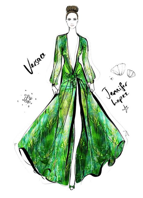 fashion illustration versace 100 of the most iconic dresses in fashion history captured