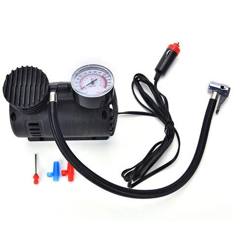 Compresor Mini Pompa Mini Portabe 1 12v portable mini air compressor 300 psi bike car tyre inflator cigarette in
