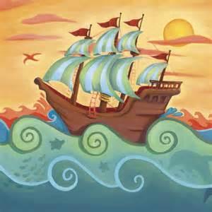 Wall Murals San Diego pirate ship wall canvas art
