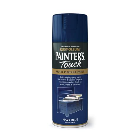 spray paint gloss or flat rust oleum painters touch gloss spray paint navy blue