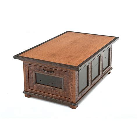 Drawer Coffee Table Saratoga Reclaimed Barn Wood 2 Drawer Coffee Table