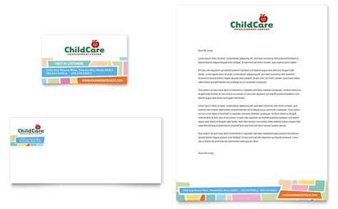 childcare business cards templates preschool day care business card letterhead