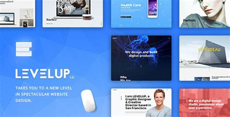 themeforest level up levelup creative multi purpose wordpress theme by grafas