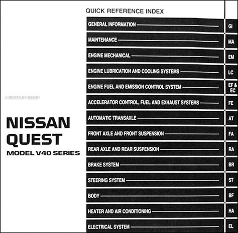 vehicle repair manual 1993 nissan quest regenerative braking 1993 nissan quest van repair shop manual original
