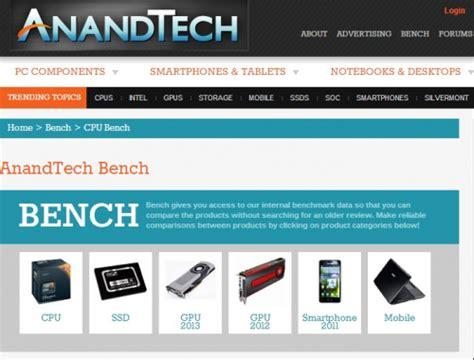 anandtech com bench ベンチマーク比較で使えるサイト 自作pc ぬふふ com