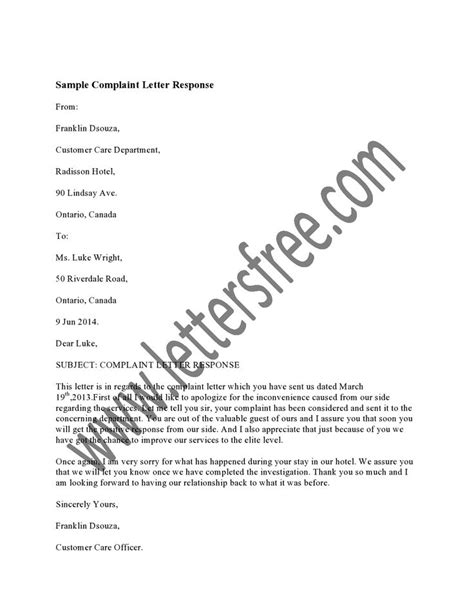 Complaint Letter Against Restaurant 1000 Images About Sle Complaint Letters On Letters Dining Services And Restaurant