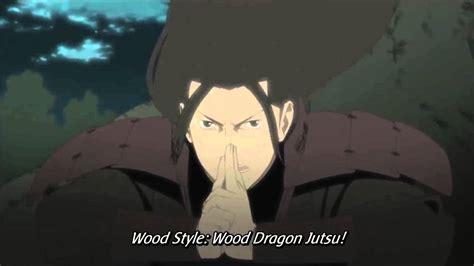 hashirama senju wood style wood dragon jutsu mokuton mokuryu  jutsu youtube