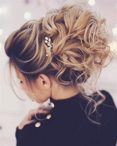 updo with volume shoulder length hair pretty messy wedding updo hairstyle for every type of
