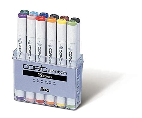 Sale Copic Sketch Plastic For 12 Pcs copic marker 12 sketch basic set crafts store