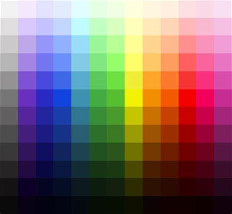 tavola cromatica dei colori tavola dei colori elestiale