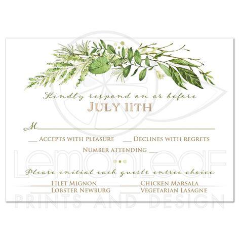 vintage tree swing lovebirds wedding invitation and response card