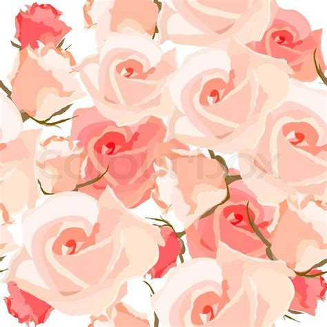 light up red roses seamless light romantic pattern with pink roses vector