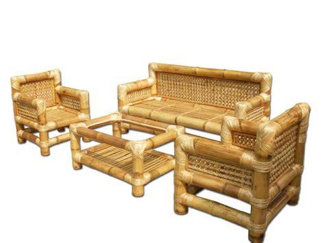 bamboo loveseat bamboo sofa set