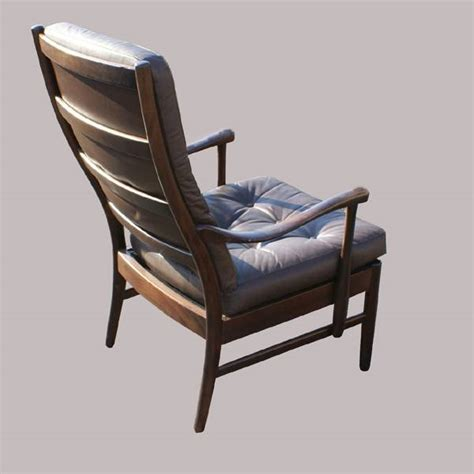 Wood Leather Chair by Vintage Brown Leather Wood Lounge Chair Ebay