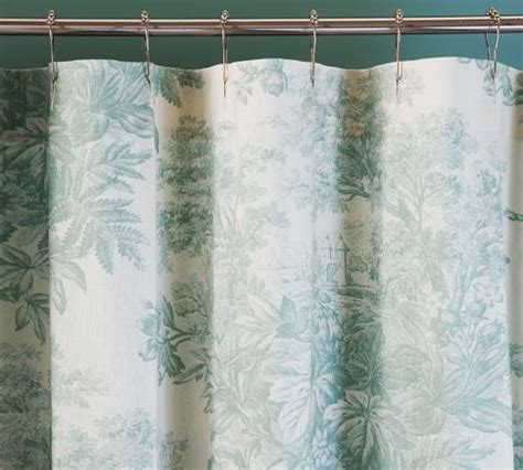 blue toile shower curtain shower curtain dream home pinterest