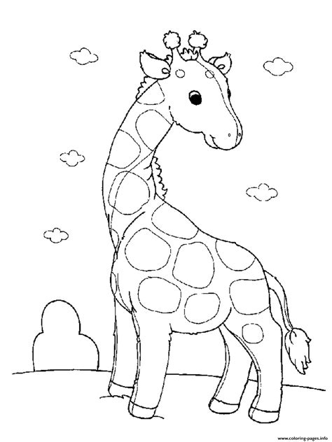 girl vet coloring page baby giraffe s for girls animals printable13b0 coloring