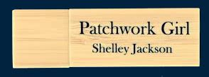 Shelley Jackson Patchwork - photos of the folio cd and flash drive and their