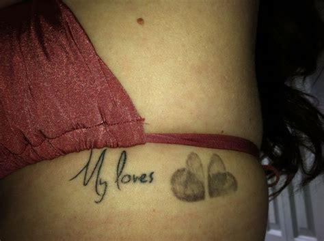 thumbprint heart tattoo children s fingerprint search tattoos