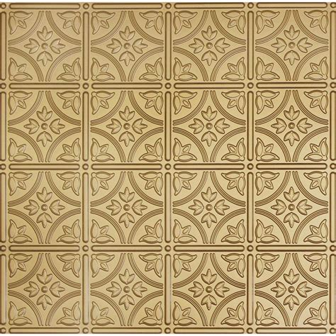 Ceiling Tile Grid System by Global Specialty Products Dimensions 2 Ft X 2 Ft Brass