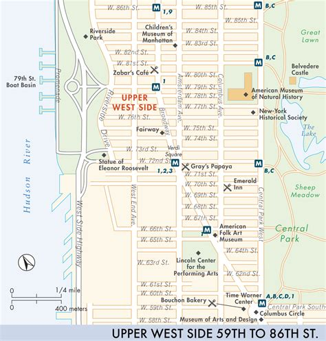 what side does the st go on map of west side west side fodor s travel guides