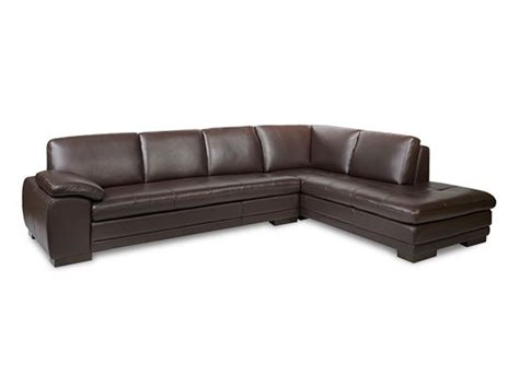 plush leather sectional leather plush and brown on