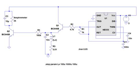 measure inductance with microcontroller inductivity meter using ic 555 microcontroller project circuit