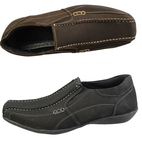 casual leather loafers mens casual loafers smart nubuck suede leather comfort