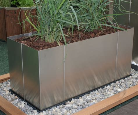 Moderne Hochbeete by Garten Im Quadrat Edelstahl Pflanzgef 228 223 Square 70 X 30