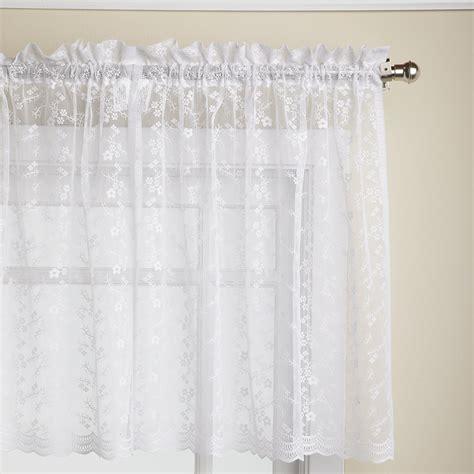 white priscilla curtains lorraine home fashions priscilla 60 inch x 24 inch tier