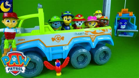 tracker jeep paw patrol paw patrol toys jungle rescue pups paw terrain vehicle