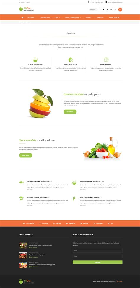 wordpress themes nutrition free biodiet nutrition weight loss wordpress theme by aa