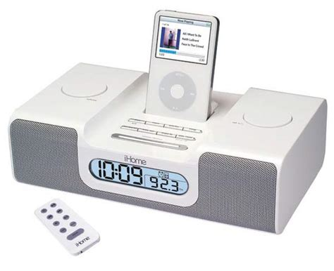 ihome clock radio for ipod the green