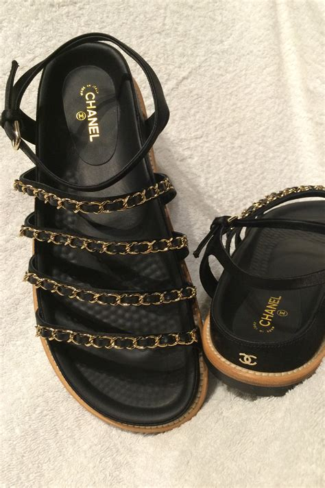 chanel sandals chanel satin strappy embellished chain sandals milli fash