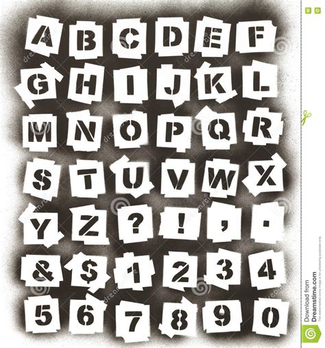 spray paint stencil font photoshop spray paint alphabet stock photo image of isolated
