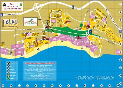 printable map gran canaria street map costa calma fuerteventura