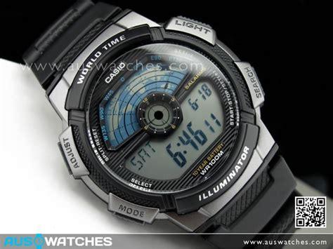 Casio Original Pria Ae 1000w 1a Standard Digital Harga Termurah buy casio s world time alarm digital sports ae 1100w 1a ae1100w buy watches