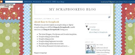 scrapbook templates for blogger scrapbook extra resources for blogger templates easy to