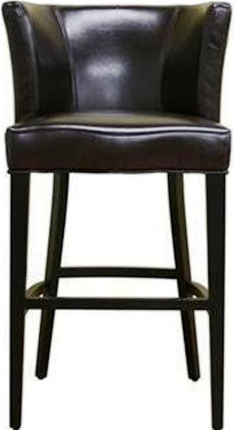 black leather curved back bar stool wholesale interiors y 770 brn cleto espresso brown leather