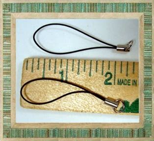 Pda Shoper Hanging Mix Brown 1300 cell phone straps lariat w jump ring end mix of 13