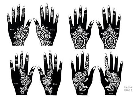 henna tattoo schablonen 8 st 252 ck set zur einmaligen