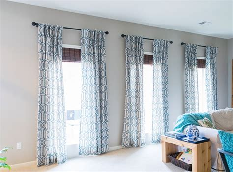 how to hang curtains on high window how high to hang curtains happymeetshome
