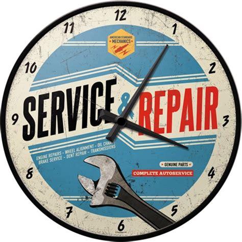 werkstatt uhr auto werkstatt uhr service repair 31cm wanduhr retro