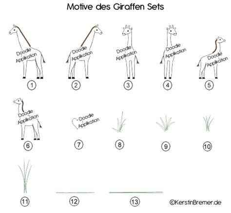 doodle umfrage erstellen anleitung giraffen doodle stickdateien set kerstinbremer de