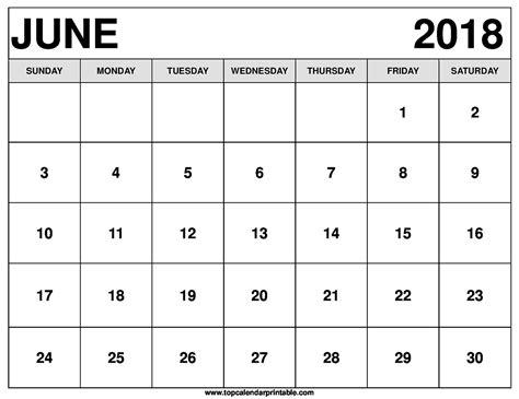 www printable june 2018 calendar