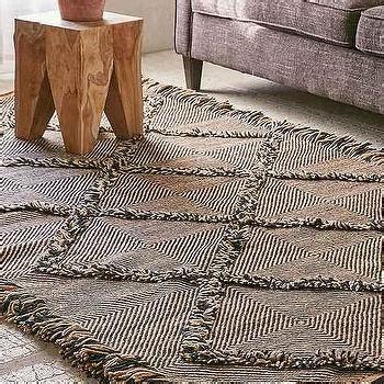 black and white geo design printed rug