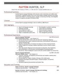 templating language unforgettable speech language pathologist resume exles