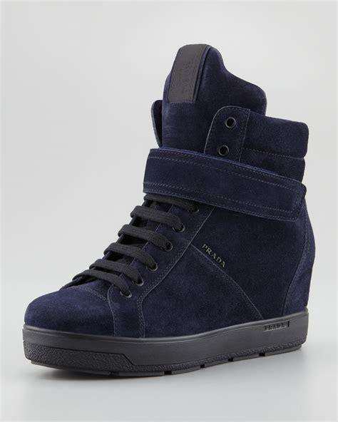 Prada Sneakers Prada Wedges prada wedge sneakers 28 images prada s blue suede side zip wedge heel sneakers prada